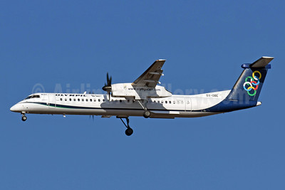 Olympic Air (3rd) Bombardier DHC-8-402 (Q400) SX-OBE (msn 4314) ATH (Richard Vandervord). Image: 952003.