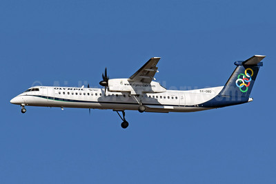 Olympic Air (3rd) Bombardier DHC-8-402 (Q400) SX-OBD (msn 4311) ATH (Richard Vandervord). Image: 952002.