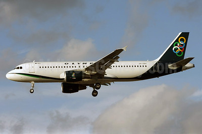 Olympic Air (3rd) Airbus A320-214 SX-OAU (msn 4193) LHR (David Apps). Image: 904652.