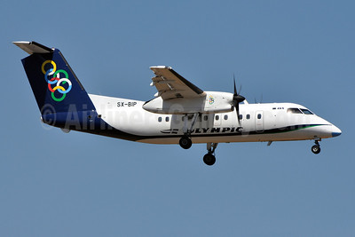Olympic Air (3rd) Bombardier DHC-8-102 SX-BIP (msn 347) ATH (Richard Vandervord). Image: 909577.