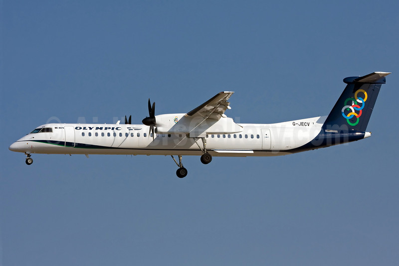 Olympic Air (3rd) (Flybe) Bombardier DHC-8-402 (Q400) G-JECV (msn 4148) FRA (Ole Simon). Image: 903433.