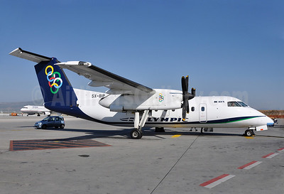 Olympic Air (3rd) Bombardier DHC-8-102 SX-BIP (msn 347) ATH (Richard Vandervord). Image: 909578.