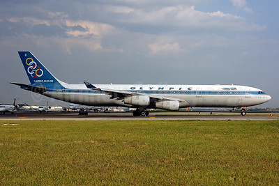 Olympic Airways (1st) Airbus A340-313 SX-DFD (msn 292) JFK (Ken Petersen). Image: 900570.