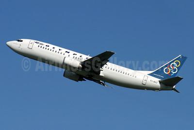 Olympic Airways (1st) Boeing 737-484 SX-BKC (msn 25361) LGW (Antony J. Best). Image: 901010.