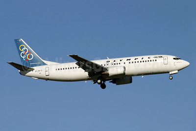 Olympic Airways (1st) Boeing 737-484 SX-BKD (msn 25362) LHR (Antony J. Best). Image: 901011.