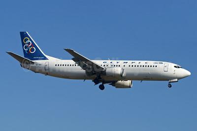 Olympic Airways (1st) Boeing 737-4Q8 SX-BKI (msn 24704) LGW (Paul Denton). Image: 936738.