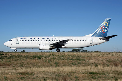 Olympic Airways (1st) Boeing 737-4Q8 SX-BKH (msn 24703) CDG (Christian Volpati). Image: 920599.