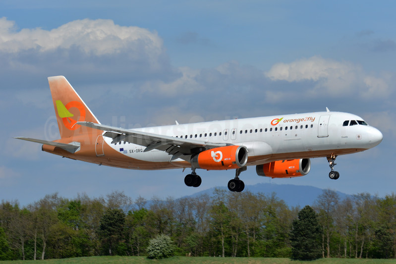 Orange2fly Airlines Airbus A320-232 SX-ORG (msn 1407) BSL (Paul Bannwarth). Image: 937579.