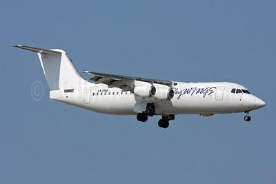Sky Wings Airlines (Greece) BAe RJ100 SX-DMB (msn E3343) AYT (Andi Hiltl). Image: 951306.