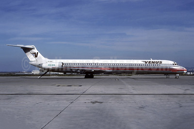 Venus Airlines McDonnell Douglas DC-9-82 (MD-82) SX-BBV (msn 48048) (Adria colors) PMI (Jacques Guillem Collection). Image: 942352.