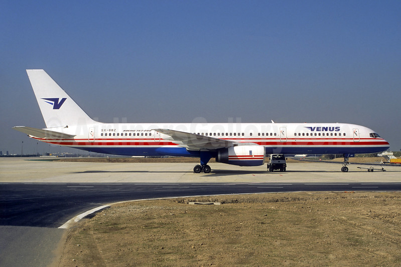 Venus Airlines Boeing 757-236 SX-BBZ (msn 24792) (Ambassador colors) CDG (Christian Volpati). Image: 936434.