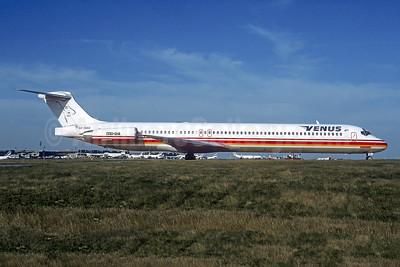 Venus Airlines McDonnell Douglas DC-9-83 SX-BAQ (msn 49710) (CTA colors) CDG (Christian Volpati). Image: 942353.