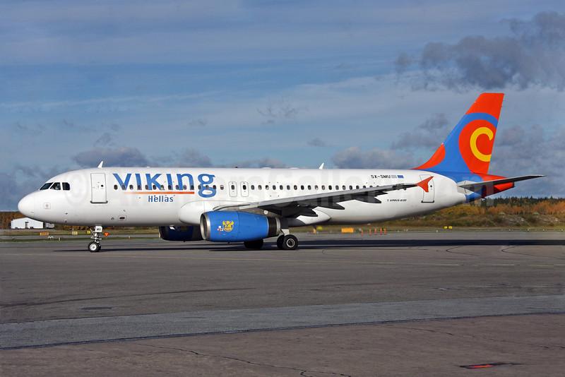 Viking Hellas Airlines Airbus A320-231 SX-SMU (msn 414) ARN (Ola Carlsson). Image: 905589.