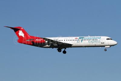 Greenland Express (Denim Air) Fokker F.28 Mk. 0100 PH-MJP (msn 11505)  ZRH (Andi Hiltl). Image: 924940.