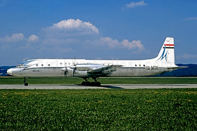 MALÉV flight 801 ferried from East Berlin to Budapest, crashed on approach to Ferihegy Airport due to low visibility weather on January 15, 1975, 9 crew killed