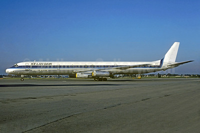 Icelandair-Air Algerie McDonell Douglas DC-8-63 C-FCPS (msn 45929) (Worldways colors) MAN (Christian Volpati Collection). Image: 937833.