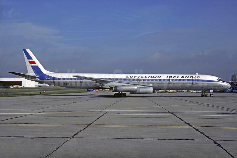 Loftleidir Icelandic (1st) McDonnell Douglas DC-8-63CF N8641 (msn 46106) LBG (Christian Volpati). Image: 903063.