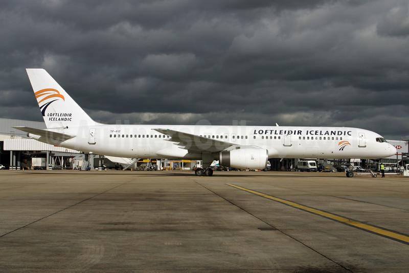 Loftleidir Icelandic (2nd) Boeing 757-256 TF-FIT (msn 26244) LHR. Image: 924759.