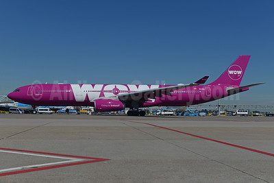 Wow Air Airbus A330-343 EC-MIO (TF-WOW) (msn 1624) AMS (Ton Jochems). Image: 940508.