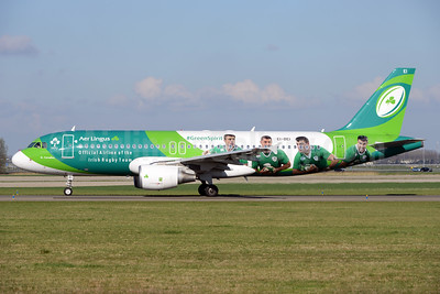 Aer Lingus Airbus A320-214 EI-DEI (msn 2374) (Green Spirit - Official Airline of the Irish Rugby Team) AMS (Ton Jochems). Image: 937450.