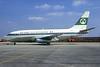 Aer Lingus-Irish International (United Airlines) Boeing 737-222 EI-ASK (msn 19947) (United stripe) LHR (Christian Volpati Collection). Image: 931717.