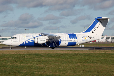 CityJet (Ireland) BAe RJ85 EI-RJX (msn E2372) (Leinster Rugby - Bank of Ireland) DUB (Greenwing). Image: 909669.
