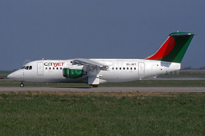 CityJet (Ireland) BAe 146-200 EI-JET (msn E2073) DUB (SM Fitzwilliams Collection). Image: 935377.