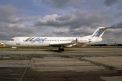 EUjet - EUjet.com Fokker F.28 Mk. 0100 EI-DBR (msn 11323) LGW (Robbie Shaw). Image: 949584.