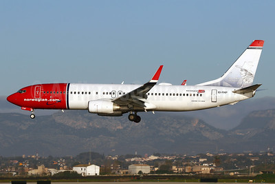 Norwegian.com (Norwegian Air International) (Ireland) Boeing 737-8JP WL EI-FHP (msn 40865) (Soren Kierkegaard, Danish philosopher) PMI (Javier Rodriguez). Image: 937444.