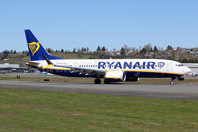 Ryanair Boeing 737-8 MAX 8 (200) N1800B (EI-HGG) (msn 62316) BFI (Joe G. Walker). Image: 953465.