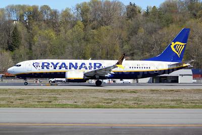 Ryanair Boeing 737-8 MAX 8 (200) N1779B (EI-HGJ) (msn 62325) BFI (Joe G. Walker). Image: 953464.