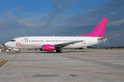 Aeroservizi Air Charter Broker (FlyLAL) Boeing 737-35B LY-AQV (msn 25069) (FlyLAL colors) BLQ (Lucio Alfieri). Image: 903257.