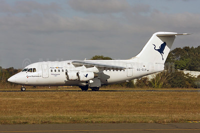 Air One-Transwede Airways (2nd) BAe RJ70 SE-DJX (msn E1223) SEN (Keith Burton). Image: 903850.