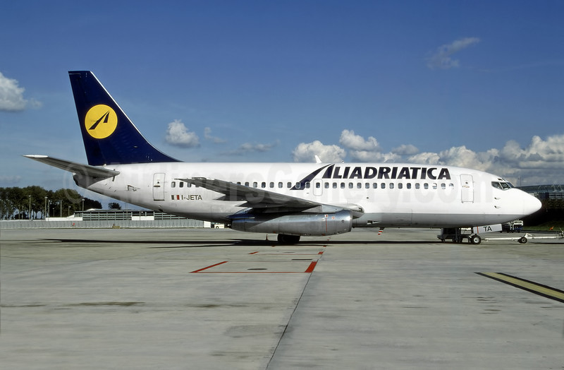 Aliadriatica Boeing 737-229 I-JETA (msn 21839) (Lufthansa colors) (Bruce Drum Collection). Image: 947314.