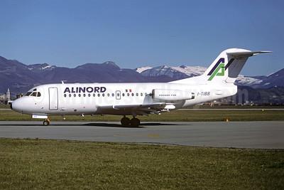 Alinord Fokker F.28 Mk. 1000 I-TIBB (msn 11010) BGY (Christian Volpati Collection). Image: 946125.