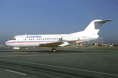 Alinord Fokker F.28 Mk. 1000 F-GEXX (msn 11102) (Air Reunion colors) BGY (Christian Volpati Collection). Image: 946124.