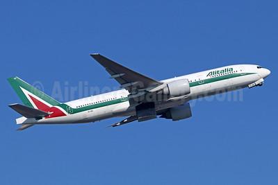 Alitalia (3rd) (Societa Aerea Italiana) Boeing 777-243 ER EI-ISE (msn 32856) NRT (Michael B. Ing). Image: 935617.