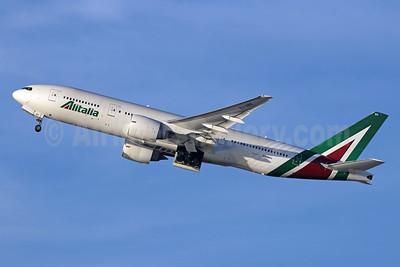 Alitalia (3rd) (Societa Aerea Italiana) Boeing 777-243 ER EI-DBK (msn 32783) LAX (Michael B. Ing). Image: 945660.