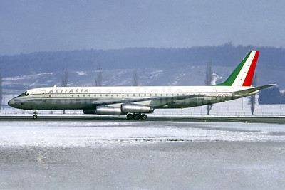 Alitalia (1st) (Linee Aeree Italiane) McDonnell Douglas DC-8-62 I-DIWN (msn 45909) ZRH (Christian Volpati Collection). Image: 940364.