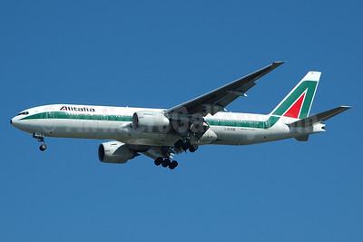 Alitalia (1st) (Linee Aeree Italiane) Boeing 777-243 ER I-DISB (msn 32859) JFK (Bruce Drum). Image: 100500.