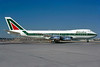Alitalia (1st) (Linee Aeree Italiane) Boeing 747-243B I-DEMU (msn 19732) JFK (Bruce Drum). Image: 102781.