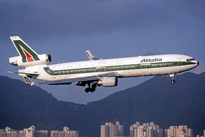 Alitalia Cargo (1st) (Linee Aeree Italiane) McDonnell Douglas MD-11 I-DUPB (msn 48431) HKG (SPA). Image: 940577.