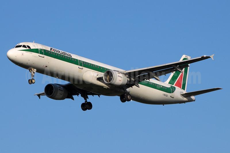 The last Alitalia aircraft in the original 1969 Landor livery