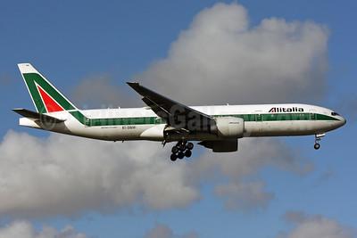 Alitalia (1st) (Linee Aeree Italiane) Boeing 777-243 ER EI-DBM (msn 32782) MIA (Brian McDonough). Image: 901850.