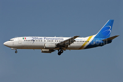 Blue Panorama Airlines Boeing 737-4Z9 UR-GAP (msn 27094) (Ukraine International colors) FCO (Karl Cornil). Image: 923244.