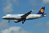 Lufthansa Italia Airbus A319-112 D-AKNH (msn 794) LHR (Bruce Drum). Image: 101626.