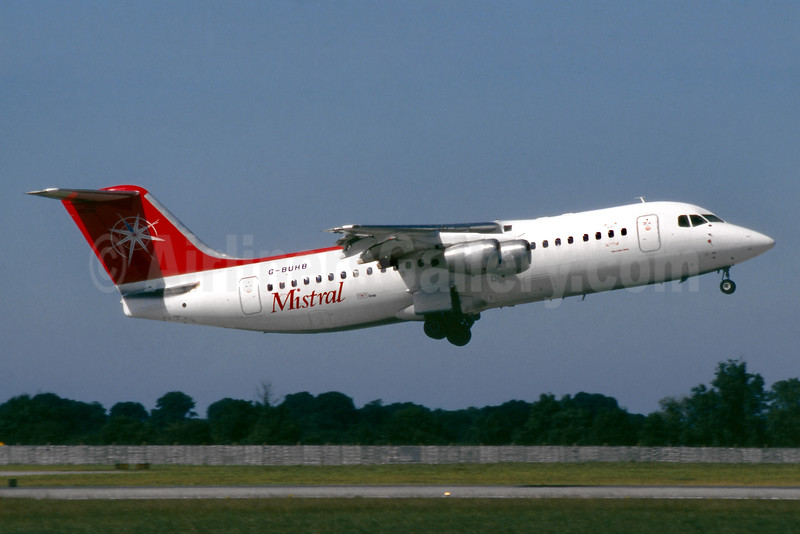 Mistral Air (TNT Group) BAe 146-300 G-BUHB (msn E3183) DUB (SM Fitzwilliams Collection). Image: 935832.