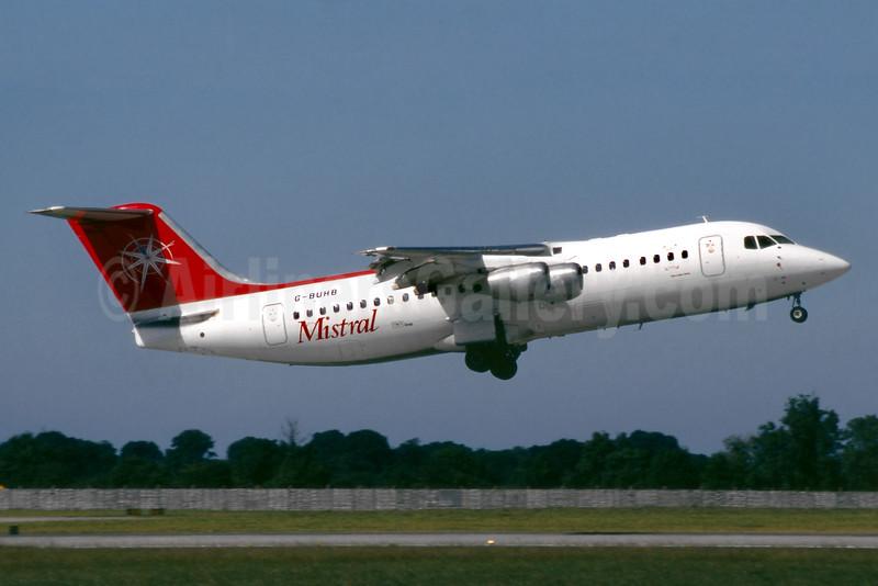 Mistral Air (TNT Group) BAe 146-300 G-BUHB (msn E3183) DUB (SM Fitzwilliams Collection). Image: 935832.
