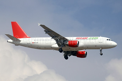 MyAir (myair.com) Airbus A320-211 HB-IJZ (msn 211) (Air Pristina colors) BCN (Paul Denton). Image: 903576.