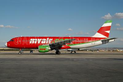 MyAir (myair.com) Airbus A320-212 EI-DJH (msn 814) MAD (Ton Jochems). Image: 953612.